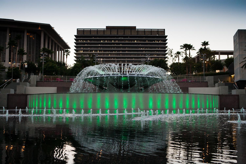 The big fountain in Goodman Grand Park